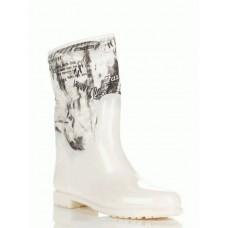 Комбинированные резиновые сапоги 4640-white