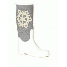 Комбинированные резиновые сапоги 147 cloth snowflake