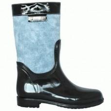 Комбинированные резиновые сапоги 4640-17 джинс