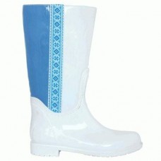 Комбинированные резиновые сапоги 4699-1-06 бел син кож-зам