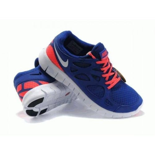 Кроссовки Nike Free Run Plus 2 Blue/Pink (VО-777)