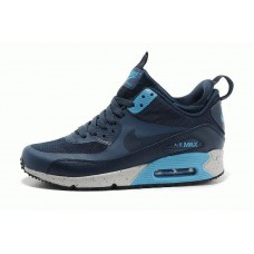 Кроссовки Nike Air Max Sneakerboot Blue Navi (О-521)