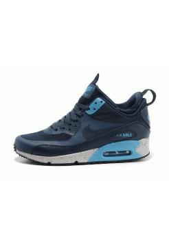 Кроссовки Nike Air Max Sneakerboot Blue Navi (О-521)