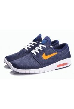 Кроссовки Nike SB Stefan Janoski Max Blue/Orange (О-531)