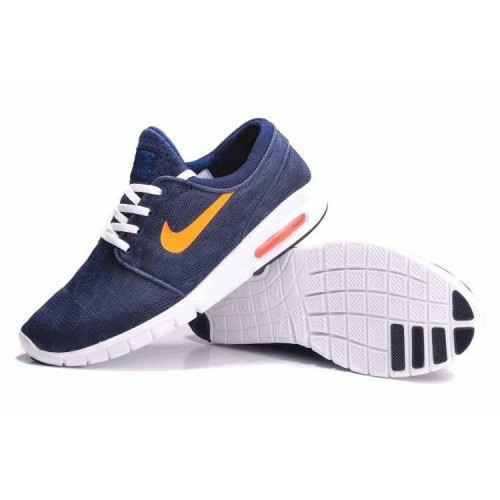 Кроссовки Nike SB Stefan Janoski Max Blue/Orange (О-531)