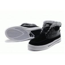 Nike High Top Fur Черные (О-351)