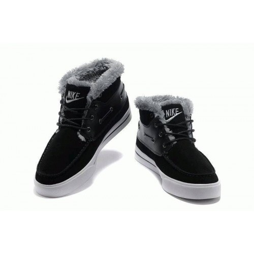Nike High Top Fur Черные (О-351)