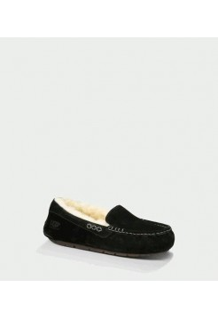 UGG ANSLEY SLIPPERS BLACK