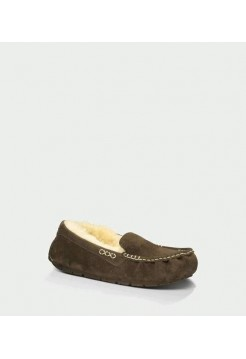 UGG ANSLEY SLIPPERS CHOCOLATE