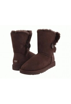 UGG BAILEY BUTTON BROWN (ОМ476)