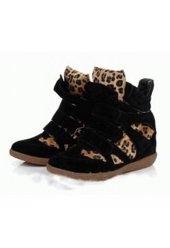 Женские кроссовки Isabel Marant Copy Черный-коричневый