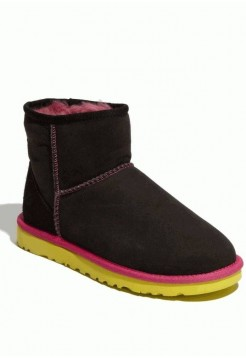 UGG WOMENS CLASSIC MINI Black Yellow