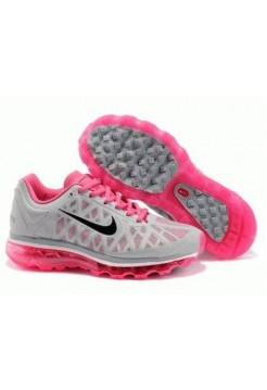 Кроссовки Nike Air Max 2011 Серо/розовые (О-237)
