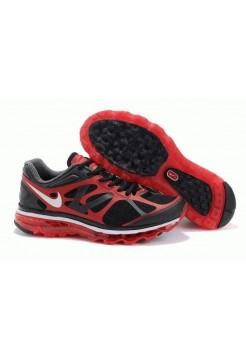 Кроссовки Nike Air Max 2012 Черно/красные (О-381)