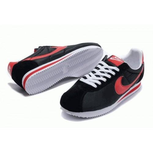 Кроссовки Nike Cortez Черно/красные (О-211)
