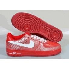 Кроссовки Nike Air-Force Красные (О311)