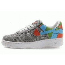 Кроссовки Nike Air-Force Low Grey Blue Red (О-247)