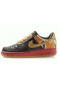 Кроссовки Nike Air-Force 1 Low Brown Red Gold