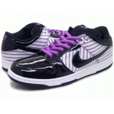 Кроссовки Nike Dunk Low Black White Purple