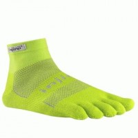Спортивные носки Injinji Run Midweight Mini-Crew Xtralife Yellow