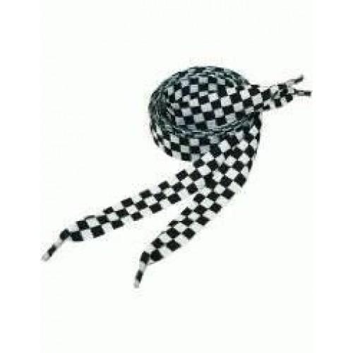 Шнурки SofSole Черно-Белая Шахматка Плоские