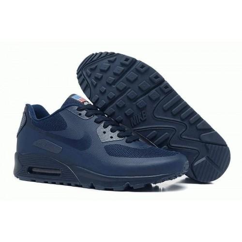 73551083c40d Кроссовки Nike Air Max 90 Hyperfuse Dark Blue USA (OMVЕ-573)