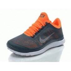 Кроссовки Nike Free Run Черно-оранжевые (А864)