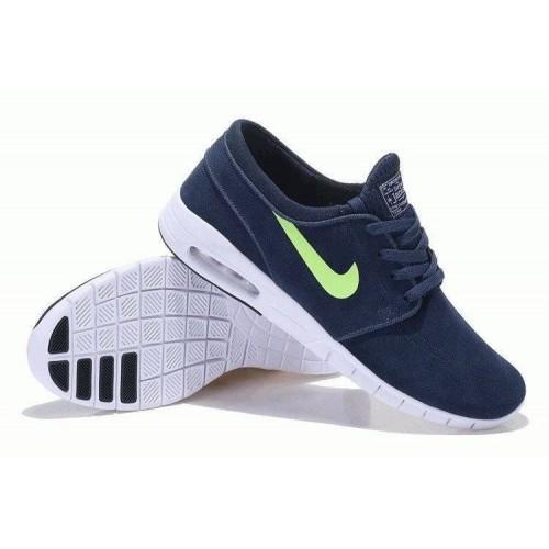 Кроссовки Nike SB Stefan Janoski Max Navy Suede (О-511)