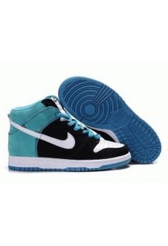 Кроссовки Nike Dunk High Сине/черные (О-351)