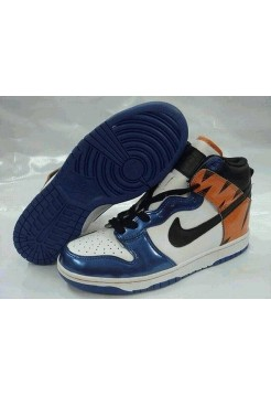 Кроссовки Nike Dunk High White Blue Orange