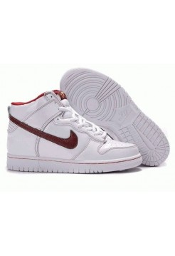 Кроссовки Nike Dunk High White Red