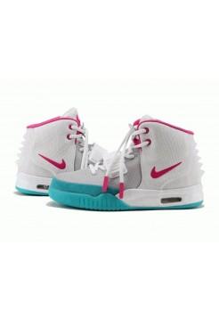 Кроссовки Nike Air Yeezy 2 Grey/Pink (О324)