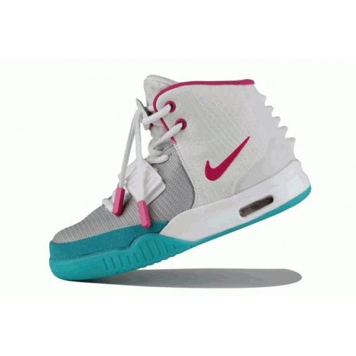 Кроссовки Nike Air Yeezy 2 Grey/Pink (О324)