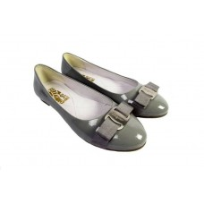 Балетки Salvatore Ferragamo Simple Grey (О499)