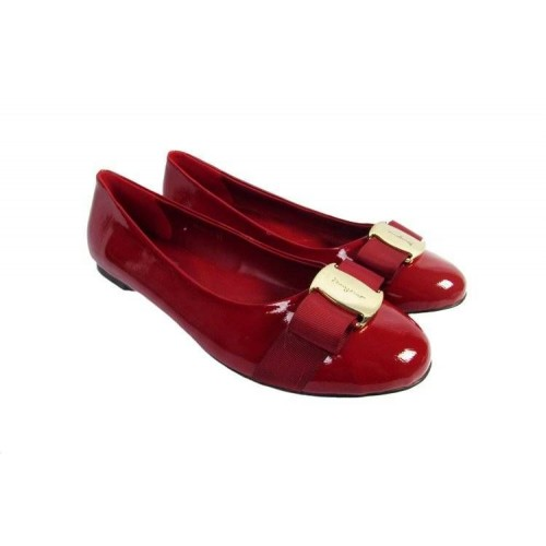 Балетки Salvatore Ferragamo Simple Red (О421)