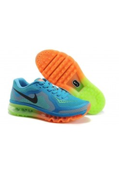 Кроссовки Nike Air Max 2014 Sea Blue Orange/Green (ОР617)
