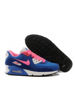 Кроссовки Nike Air Max 90' Dark Blue Pink White (О-351)