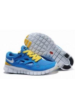 Кроссовки Nike Free Run Plus 2 Синие (О-354)