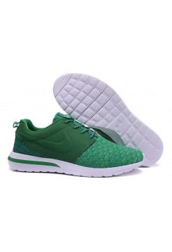 Кроссовки Nike Roshe Run Flyknit All Green (О-412)