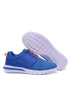 Кроссовки Nike Roshe Run Flyknit Blue/Orange (ОА324)