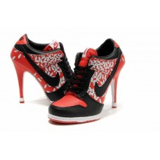 Ботиночки Nike Dunk Low Heels 05 Black/Wh/Red