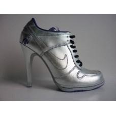 Ботиночки Nike Dunk Low Heels Silver
