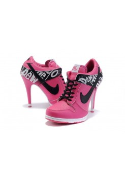Ботиночки Nike Dunk Low Heels 06 Pink