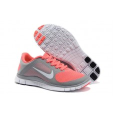 Кроссовки Nike Free Runing 4.0 Grey/Orange (О-367)