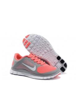 Кроссовки Nike Free Runing 4.0 Grey/Orange (О-367)