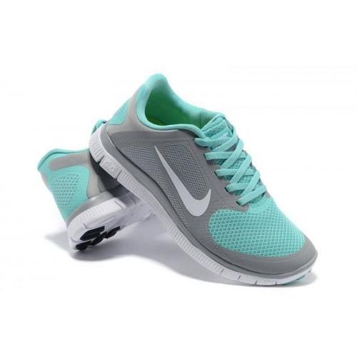 Кроссовки Nike Free Runing 4.0 Grey/Blue (ОЕ-365)