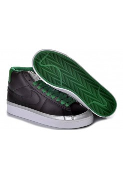 Кроссовки Nike Blazer High Black/Green/Silver