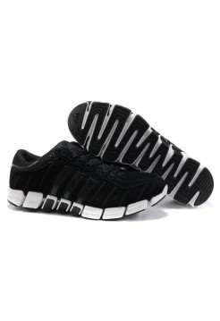 Кроссовки Adidas ClimaCool Черно-белые (М755)