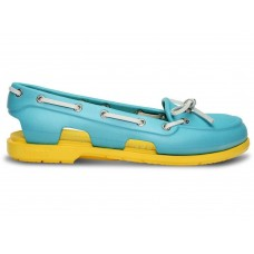 Crocs Beach Line Boat Shoe Blue Yellow