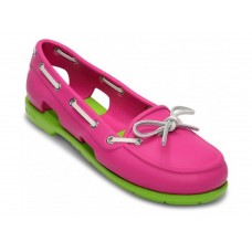 Crocs Beach Line Boat Shoe Pink Green